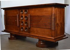 French Solid Walnut Buffet by Chaleyssin | From a unique collection of antique and modern buffets at http://www.1stdibs.com/furniture/storage-case-pieces/buffets/