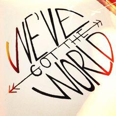 #handlettering #handwritten #sketch #doodle #type #typography #wevegottheworld