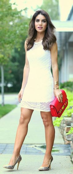 Daily New Fashion : LOOK OF THE DAY WHITE DRESS