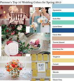 Pantone's Top 10 Fashion Colors for Spring Wedding 2015~