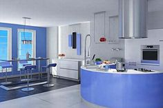 Very modern and adorable turquoise blue kitchen interior decorating ideas