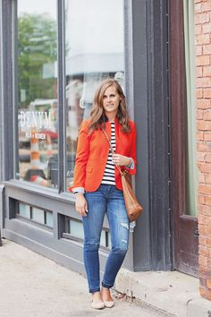 jillgg's good life (for less) | a style blog: my everyday style: a red blazer!