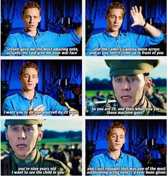 Tom Hiddleston on War Horse. i don't cry when watching this scene. psh. no.