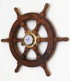 Boat Helm Wall Clock