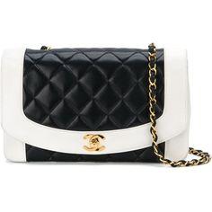 Chanel Vintage 'Lady D' shoulder bag ($4,325) ❤ liked on Polyvore featuring bags, handbags, shoulder bags, bolsas, chanel, blue, blue shoulder bag, quilted chain purse, quilted purse and quilted handbags