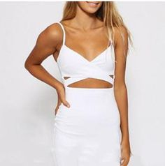 Ladies Women Sleeveless Sexy False 2 Piece Set Bandage Cut Out Bodycon Dress Women White Black Club Summer Dress || Collect your elegant Clothes or Accessories at mamirsexpress.com. #ModernFashion #ClassicFashion #WomenFashion #SexyWomen #Ladies #trendy #bodysuits #rompers #cocktail #Jewelary #Dresses
