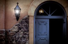Door to the San Felipe De Neri church in Old Town Albuquerque