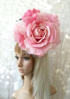 4d5ff06a7617b Kentucky Derby Fascinator Pink Rose Hat Wedding by ChikiBird Kentucky Derby  Fascinator