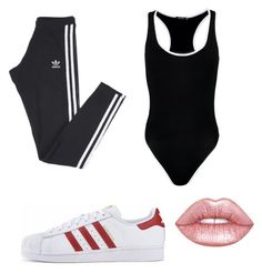 Malu Trevejo inspired outfits by fashionpanda15 on Polyvore featuring polyvore Boohoo adidas Lime Crime fashion style clothing