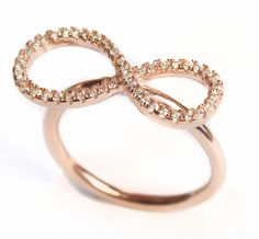 endless love: Infinity-Ring mit Zirkonia