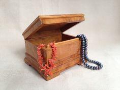 Vintage Soviet Handmade Jewelry Box Made From Korelian Birch Wood - jewelry, jewelry organizer, jewelry box, jewelry storage by BestVintage4You on Etsy