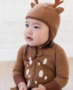 Jojo Maman Bebe Girls Christmas Reindeer Fur Hooded All in One RRP£26 3mths-5yrs