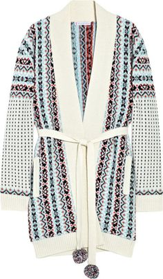 66d608e361 Dolmen Fair Isle Wool-blend Cardigan - Lyst Paul And Joe