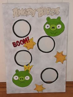 Homemade Beauties By Heidi: Day #3 of Bird-Day Week: Angry Birds Bean Bag Toss Game