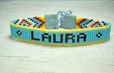 Nombre pulsera - personalizar pulsera de pulsera - pulsera ajustable - mujeres - Boho - Hippie - Boho estilo pulsera