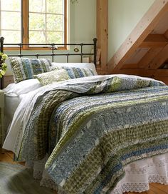 Ruffle Quilt. Master bedroom. The more I look at this, the more I feel it's the right quilt for our bedroom. Why is the price so high?  :( On the other hand, L.L. Bean makes quality products. $350 for quilt + 2 standard shams.