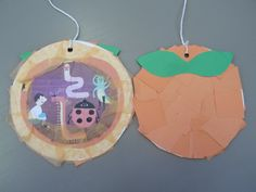 Mini Hanging Giant Peaches -James and the Giant Peach by Roald Dahl. Activity: After reading the book, students can make mini hanging peaches and on the back, draw in all the characters who were inside the peach.