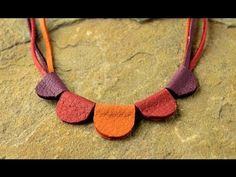 Jewelry How To - Make a Scalloped Leather Necklace - http://videos.silverjewelry.be/necklaces/jewelry-how-to-make-a-scalloped-leather-necklace/