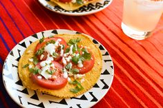 Mexican style caprese salad on a tostada inspired by my trip to Loreto, Mexico! // www.cupcakesandcutlery.com