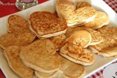 Valentine Breakfast Surprise - Our Best Bites Heart Shaped Pancakes, Valentines Breakfast, Look And Cook, Good Food, Yummy Food, Homemade Wine, Egg Recipes For Breakfast, Chocolate Strawberries, Sweet Tea