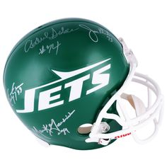 Mark Gastineau, Joe Klecko, Marty Lyons & Abdul Salaam New York Jets Autographed Riddell Replica Throwback Helmet