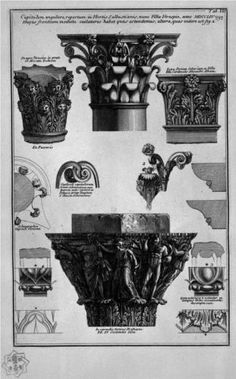 Various capitelli - Giovanni Battista Piranesi