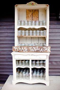 mason jar beverage display