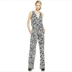 ⚡FLASH SALE ⚡ WAS $62 Vince Camuto Printed Jumpsuit. A beautiful, fluid jersey jumpsuit in a bold digital print that is styled with a plunging, decollete-highlighting V-neckline and wide flowy legs. A drawstring waist defines the figure and combines with mesh insets at the back bodice to create a modern design. It is partially lined and comes with hidden back zipper. Shell is 95% Polyester and 5% Spandex. Combo 100% Polyester. Combo 2: 80% Polyester, 20% Spandex. Lining: 100% Polyester…