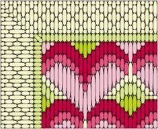Bargello Needlepoint Patterns | ... Hearts Needlepoint Pattern - Instructions for Needlepoint Hearts