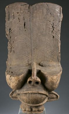 "A night mask. Cameroon Grasslands, Bacham. 20th century. Approx. 34 1/2""h x 17 1/2""w x 13""d."