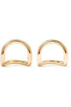 ELIZABETH AND JAMES Moore gold-plated earrings. #elizabethandjames #