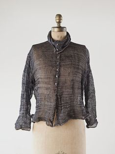 Habu textiles classic silk stainless steel cardigan....you can pinch and shape the fabric...unique pattern!