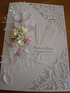 Wedding Card - Essential products for this project can be found on Crafting.co.uk - for all your crafting needs.