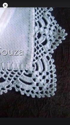 Crochet Lace Edging, Crochet Borders, Knit Crochet, Crochet Hats, Baby Knitting Patterns, Crochet Patterns, Crochet Designs, Diy And Crafts, Cross Stitch