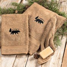 Black Bear Towel Set - 3 pcs