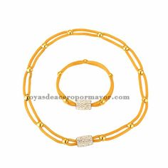 collar y pulsera de bolita para mujer-SSNEG81906