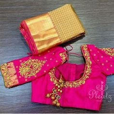 Beautiful blouses made by @pleatzofficial for #Kancheepuramsarees Contact @pleatzofficial for pricing