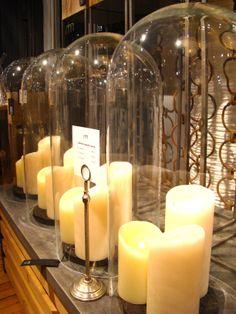 @Luminara candles under cloches | Marc Hall Objekt - Boston, MA