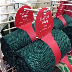 This Deck The Halls Doorbuster PowerWing offers ribbon rolls for Holiday decorating. Why buy a whole roll of ribbon or fabric when a lesser quantity will do Deck The Halls, Hanukkah, Retail, Holiday Decor, Fabric, Christmas, Home Decor, Tejido, Xmas