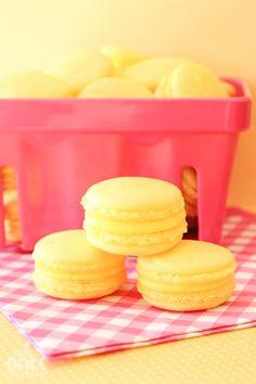 Triple lemon macarons - little bites of sweet sunshine!