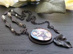 Mermaid Maiden Cabochon Pendant Necklace by RoseTeaAndRabbit https://www.etsy.com/uk/listing/225928167/mermaid-maiden-cabochon-pendant-necklace?ref=shop_home_active_1
