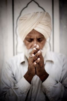 Sikh in prayer