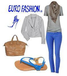 #AzulPavo #Sandals #Gris #Pretty #Eurofashion
