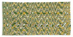 "Green Wave Fabric Design Towel (Beach Towel (32"" x 64"")) by Tom Janca.  Our towels are great."