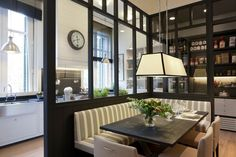 Casa Decor Barcelona 11. Oh wow! Nice idea. Don't have a corner for a banquette? Build one in the middle of the room!