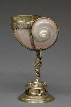 Turbo and silver gilt cup, late 16th century.  Casper Bendel (German, 1575–1599). Mount 19th century (?).