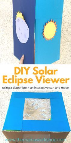 Make this DIY Solar Eclipse Viewer using supplies you have around the house to view the eclipse on August 21, 2017 safely with your family. Have fun!