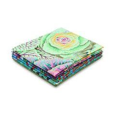 Kaffe Fassett Green 2 Fat Quarter Pack Was - Sewing Quarter Sewing Quarter, Picnic Blanket, Outdoor Blanket, Ornamental Cabbage, Small Sewing Projects, Textile Artists, Fat Quarters, Mint Green, Printing On Fabric