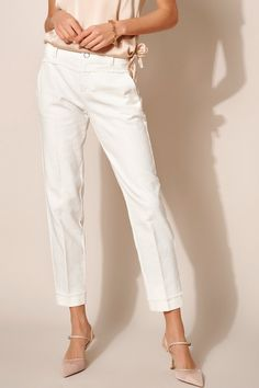 Rosner Damen Stoffhose May_390 Natur Weiss | SAILERstyle Trends, Elegant, Capri Pants, Fit, Fashion, Cloakroom Basin, Nature, Clothing, Trousers