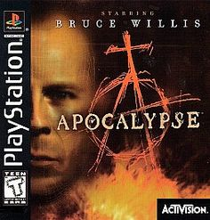 Apocalypse the first game to star an actor - Bruce Willis Sony PlayStation 1, 1998 VERY RARE PS 1 game